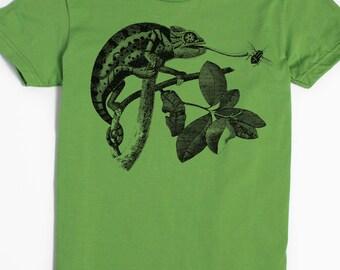 Chameleon Shirt - Women's Chameleon T-Shirt - Animal Graphic Tee for Women - Lizard tee - Vintage Art