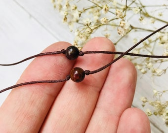 Couples bracelet SET of 2, pietersite wish bracelet stone bracelet, cord bracelet, friendship string bracelet, bff gifts, his and hers