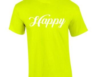 7 Dwarfs Happy Funny Custom Shirt & Ink Color