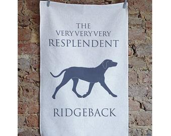 Rhodesian Ridgeback Tea Towel, Ridgeback Gifts,  Rhodesian Ridgeback, Gifts for Dog Lovers, Housewarming Gift, Thank You Gift, Dishcloth