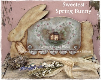 Sweetest Spring Bunny by Karen Gilbert for Painting with Friends. E-Pattern