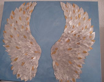 painting angel wing