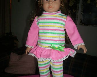 18 inch doll outfit top and leggings
