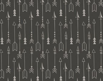 Carbon Grey Arrow Fabric-Equestrian-Camelot-Native American Fabric-Arrow Fabric-Rustic Quilt Fabric. Rustic Fabric-Arrow Quilt Fabric