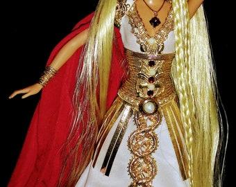Helen of Troy Trojan War Beauty Greek Goddess OOAK Barbie doll Mythology