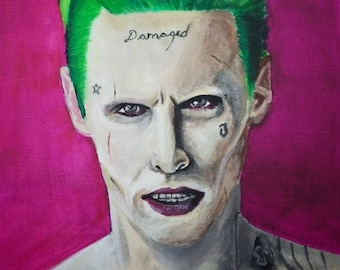The Joker Jared Leto 11x16 acrylic painting