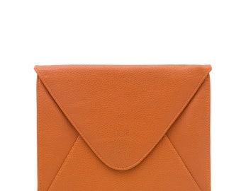 """Minimalistic Envelope iPad Case in Matte Pebbled Vegan Leather,  Envelope iPad Sleeve, iPad 9.7"""""""