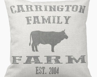 Personalized Pillow Family Farmhouse Style Pillow Cover