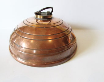 Old Antique/Vintage Copper Bed Warmer - For Display Only.