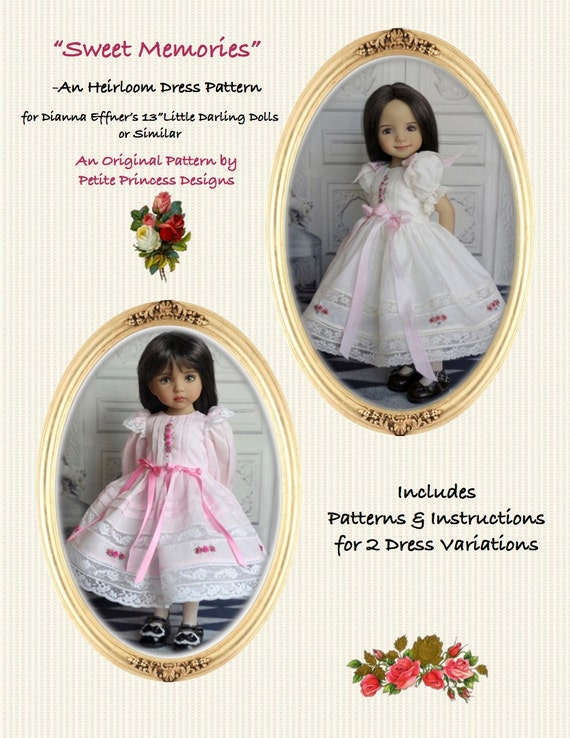 PDF Original Sewing Pattern Effner 13 Little Darling