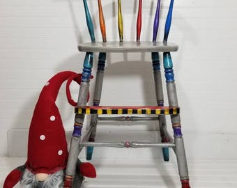 Whimsical Hand Painted Highchair