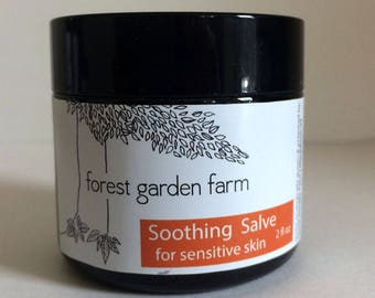 Soothing salve for sensitive skin