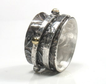 The Sound of Music-silver and gold spinner ring