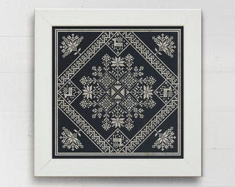 Winter Stars: A Seasonal Celebration - Instant Download PDF cross-stitch pattern