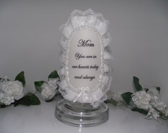 Mom memory victorian pillar candle for my wedding day