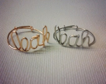 Customized/ Personalized Wire Rings
