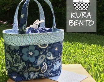 Blue Paisley Bento Lunch Bag