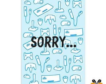 Sorry... - A5 Greeting Card