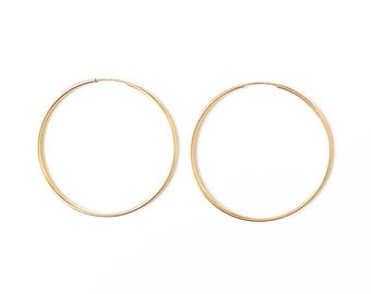 Skinny Gold Filled Hoops //Gold earrings //Hoop earrings //Gold Jewellery //Gift ideas //thin hoops //gifts for her// thin hoops
