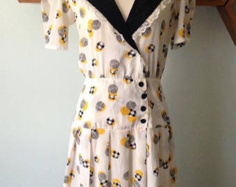 1940s-style Vintage Pattern Reproduction Dress