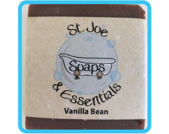 Vanilla Bean Soap, Handmade Soap, All Natural Soap, Organic Saponified Olive Oil, Coconut Oil, Shea Butter, Fragrance Oil