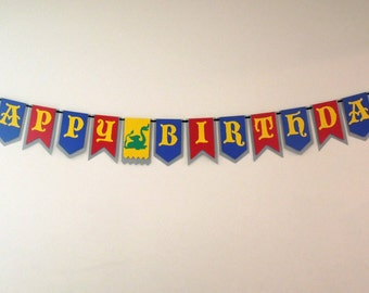 Medieval Knight Birthday Banner