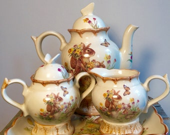 Bunny Rabbit Tea Set