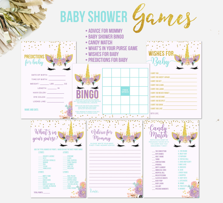 Unicorn Baby Shower Games Unicorn Face Printable Unicorn