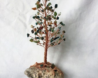 Fancy Jasper Pine Gem Tree on Mixed Feldspar Base