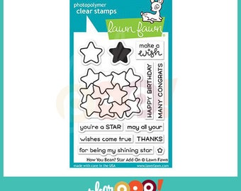 Lawn Fawn Clear Stamp Set - How You Bean? Star Add-On