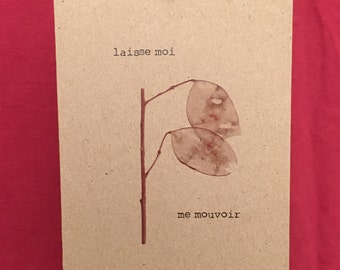 double subtle sensual poetic message card