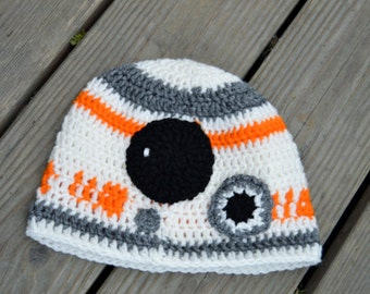 Star Wars BB8 Crochet Hat Baby Toddler Child Adult BB-8