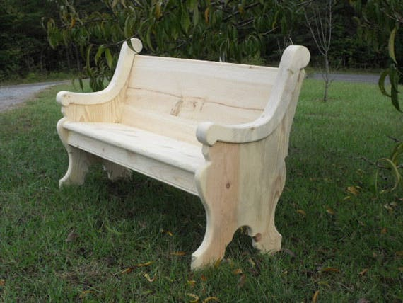 62 Unfinished Wooden Church Pew