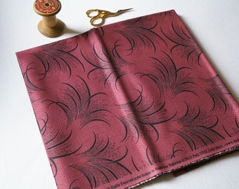 Designer fabric clearance/fabric destash/Fat quarter/Downton Abbey/Lady Mary/Plumes