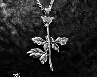 Depeche Mode Violator Rose sterling silver carved pendant,dm jewelry,violator rose pendant,woman rose pendant,enjoy the silence,music band