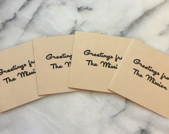 Greetings From The Mission, set of 4 cards with envelopes