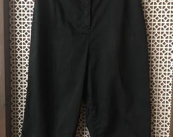 Pin Up vintage 50s 60s black Capri pants Bobbie Brooks Clam diggers size small