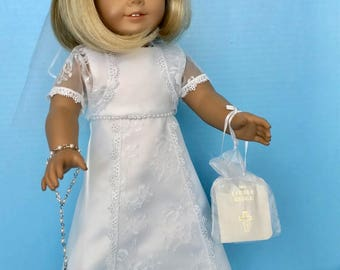 American Girl Doll: Communion of Lace and Pearls