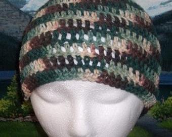 Scct 021 Hand crochet child / teen cotton chemo cap