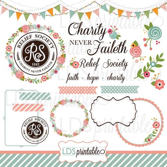 lds relief society clipart clip art faith hope charity rh etsy com lds clipart relief society lds clipart relief society