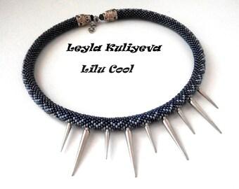 "Bead crochet necklace ""Rock-style"""