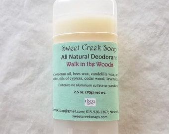 Natural Deodorant, Walk in the Woods, 2.5 oz. Stick