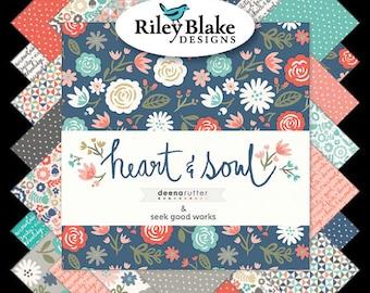Heart & Soul Fat Quarter Bundle, 18 Pieces, Deena Rutter, Riley Blake Designs, Precut Fabric, Quilt Fabric, Cotton Fabric