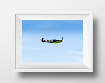 Supermarine Spitfire / RAF / Fighter / WW2 / Battle of Britain / Air Force / Plane / Wallart / British / Aeroplane / Pilot