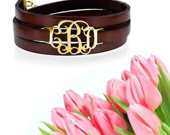 Wrap Monogram Bracelet
