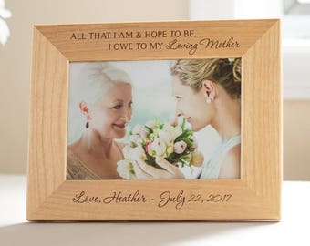 Personalized Mother of the Bride Picture Frame: Engraved Mother of the Bride Frame, Mother of the Bride Gift, Wedding Parents SHIPS FAST