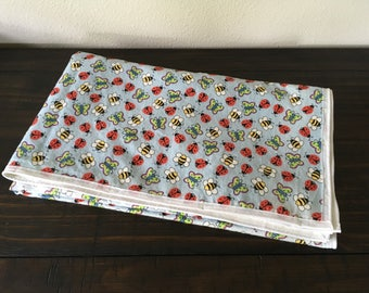 Butterflies, Bees, and Ladybugs Baby Blanket