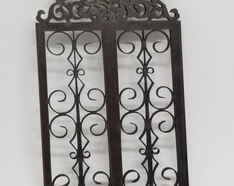 Miniature dollhouse wrought iron style decorative panel 1:12 scale