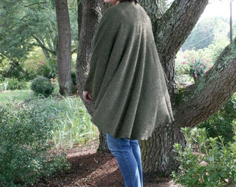 Forest Green Shawl Ruana - 'Wrap' Up in Gorgeous Green for Fall!