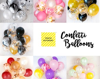 Confetti Balloon, Latex Party Decoration Balloons Bouquet for Celebration, Wedding, Anniversary, Baby Shower, Party, Birthday, Ceremony
